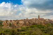 Pitigliano Town — Stock Photo