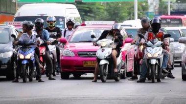 Traffic in Bangkok City. — Stock Video