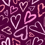 Vector seamless heart pattern. — Stock Vector #72839219