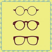 Specs, illustration, glass, optical, old — Stock Vector