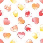 Valentine, heart, love, watercolor, red — Stock Vector