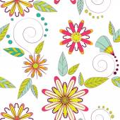 Pattern of colorful flowers — Stock Vector