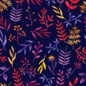 Vector watercolor floral pattern. — Stock Vector
