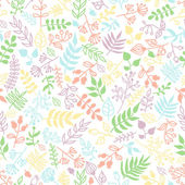 Vector doodle rustic floral pattern. — Vettoriale Stock
