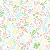 Vector doodle rustic floral pattern. — 图库矢量图片