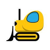 黄色グッズ トラクター アイコン. — ストックベクタ
