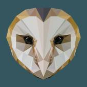 Low poly owl vector — Stock Vector