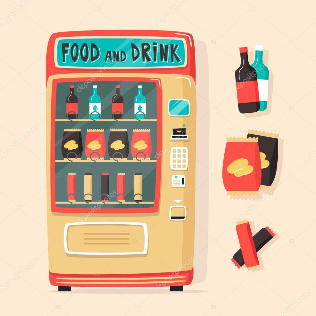 M quina expendedora de vintage con alimentos y bebidas estilo retro archivo im genes - Maquinas expendedoras de alimentos y bebidas ...