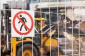 Escavatore del caricatore della rotella di lavoro — Foto Stock