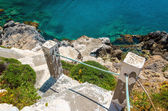 Old stairs from the beach on island, Kos, Greece — Foto de Stock