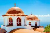Typical church with red roof, Greek island, Greece — Stock Photo
