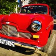 Old classic American red car — Stock fotografie #72835605