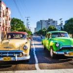 Old classic American cars  in Havana — Stock Photo #72835709