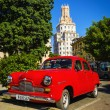 Old classic American red car — Stockfoto #72834253