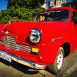 Old classic American red car — Stock fotografie #72834429