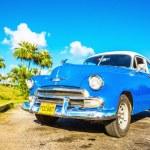 Blue classic American car — Stock Photo #72834739