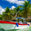 Boat on azure water — Stock Photo #72835623