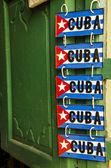 Cuban flags on metal plates — Stock Photo