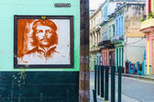 Ernesto Che Guevara on the wall — Stock Photo