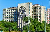 Plaza de la Revolucion with Che Guevara image — Stock Photo