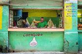Typiska kubanska slakteributiken — Stockfoto