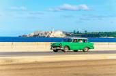 Green combo classic American car — Stock Photo