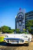 Car parked on Plaza de la Revolucion — Stock Photo