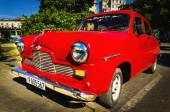 Old classic American red car — Stock Photo