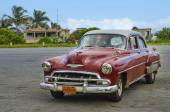 Car on Havana streets — Stock Photo
