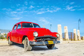 Classic American red car — Stock Photo