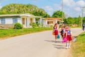Children in school uniforms — Stock Photo