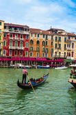 Gondolier on the Grand Canal — Stock Photo