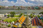 Wat Arun and Chao Phraya River, Bangkok — Stock Photo
