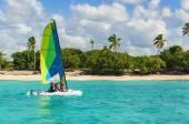 Catamaran on azure water — Stock Photo