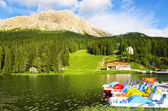 Lake Misurina in South Tyrol, Italy — Stock Photo