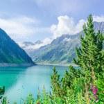 Azure mountain lake and high Alpine peaks, Austria — Stock Photo #72856211