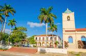 Main street, kilise, Küba Küba Vinales — Stok fotoğraf