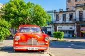 Amerikanischen roten Oldtimer auf Straße von Havanna Kuba — Stockfoto
