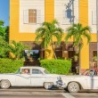 Classic American cars on street in Havana, Cuba — Stock Photo #73793401