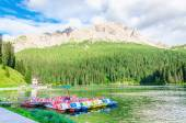 Lake Misurina in Dolomites, South Tyrol, Italy — Stock Photo