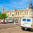 Old-fashioned police and old American cars, Havana — Stock Photo #74164691