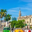 Classic American cars in Havana, Cuba — Stock Photo #74296051