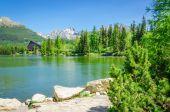 Beautiful view of the mountain lake — Stock Photo