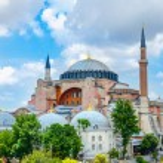 Hagia Sophia, imperial mosque and museum, Istanbul — Stock Photo #78539444