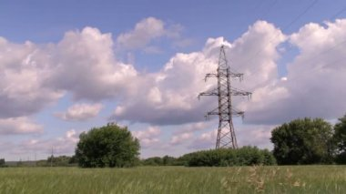 High voltage post or High voltage tower — Stock Video