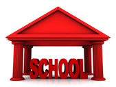 3d concept of school isolated on white — Stock Photo