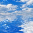 Beautiful clouds over the water — Stock Photo #76654945