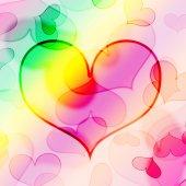 Beautiful heart shape background — Stock Photo