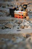 Vintage train toy model — Stockfoto