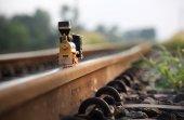 Старинный поезд игрушка модель — Стоковое фото